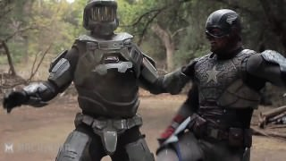 Master Chief vs. Captain America – Super Power Beat Down (2014)