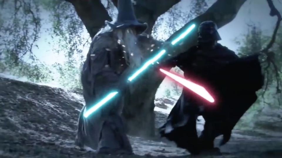 Darth Vader vs. Gandalf – Super Power Beat Down (2012)